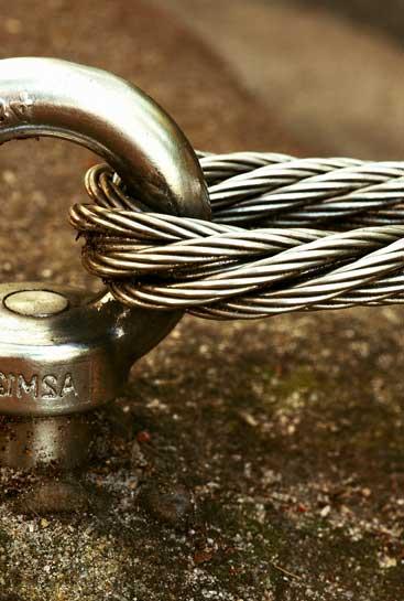 anchor in a rock for climbing