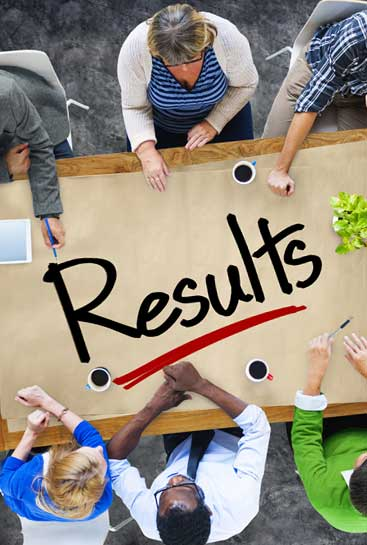 results - table meeting at a business